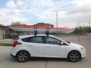 Kayak on a car