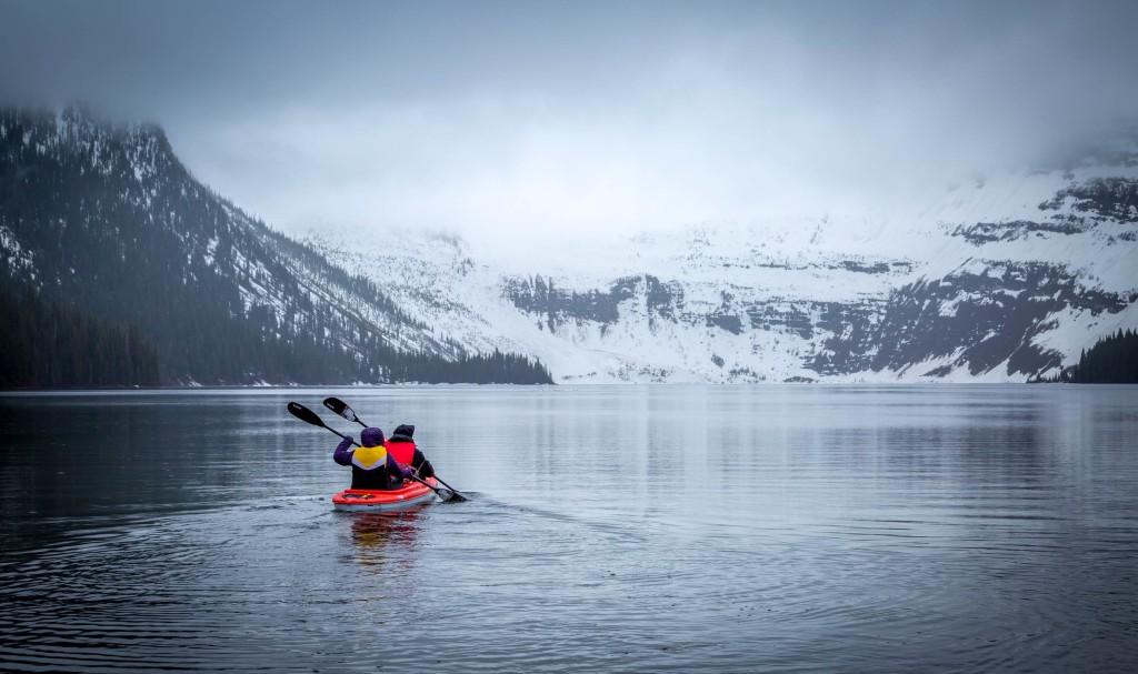 Kayaking on Cameron Lake