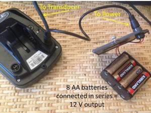 Portable battery pack for sonar fish finder