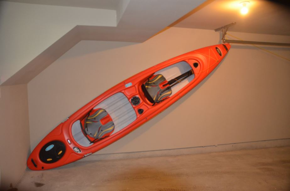 How to Store a Kayak in a Garage – Easy and Effective ... How To Store Kayaks In Garage on walk in garage, archery in garage, wrestling in garage, boxing in garage, shop in garage, kayak lifts for garage, pulley system for garage, plane in garage, shooting in garage, hot tub in garage, surfing in garage, boat in garage, atv in garage, parking in garage, car in garage, limo in garage, kayak holder garage, love in garage, run in garage, helicopter in garage,
